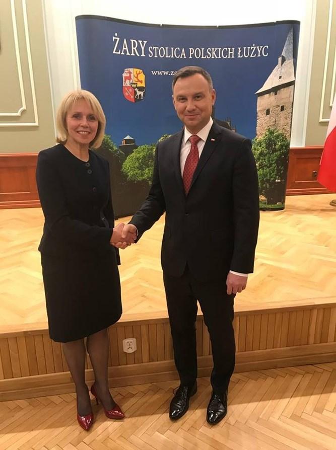 Ilustracja do informacji: Prezydent RP Andrzej Duda w Żarach