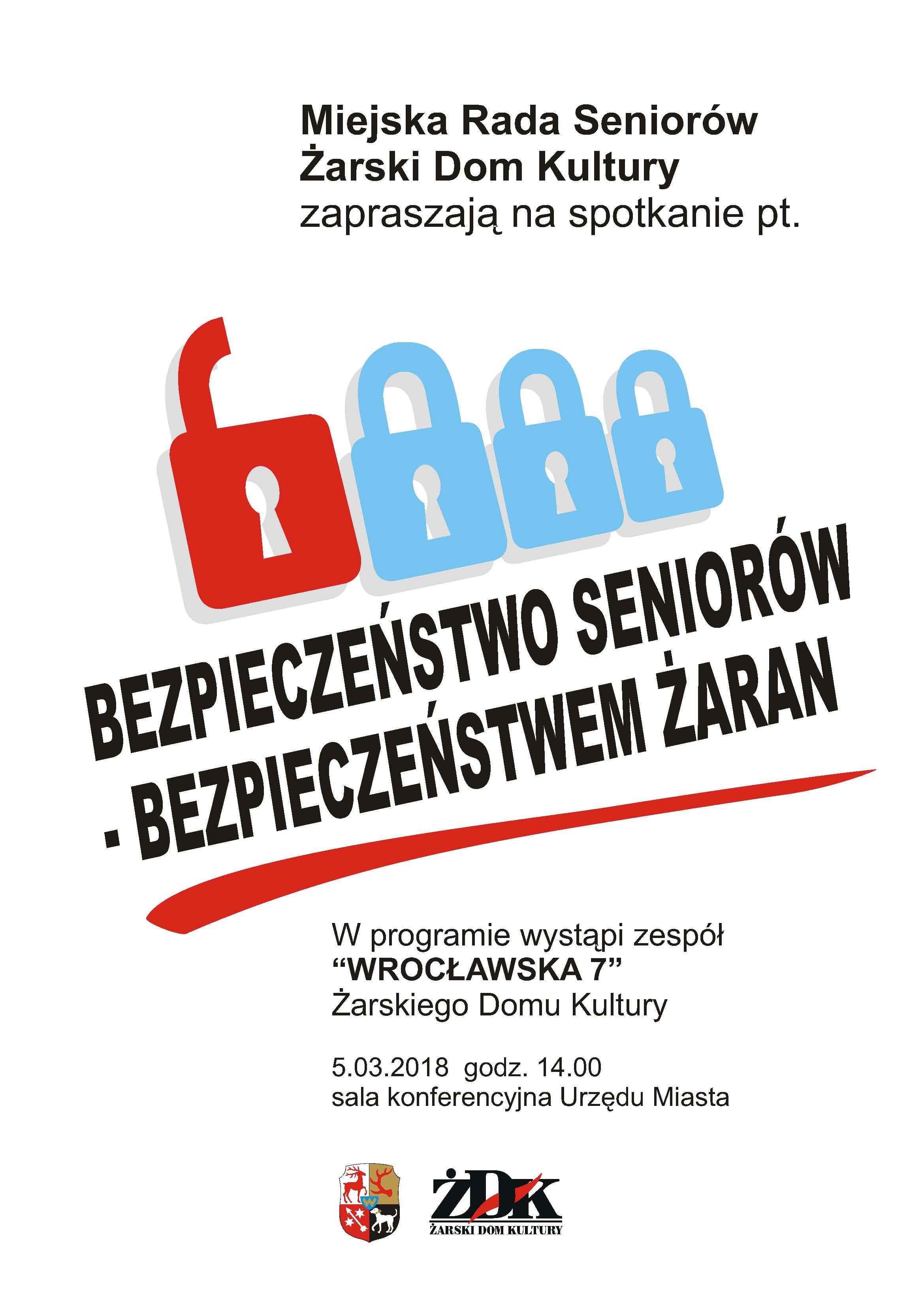 Ilustracja do informacji: Zaproszenie na spotkanie pt. BEZPIECZEŃSTWO SENIORÓW – BEZPIECZEŃSTWEM ŻARAN