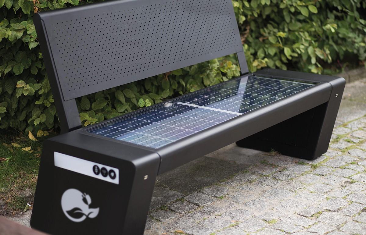 Ilustracja do informacji: Ławki solarne