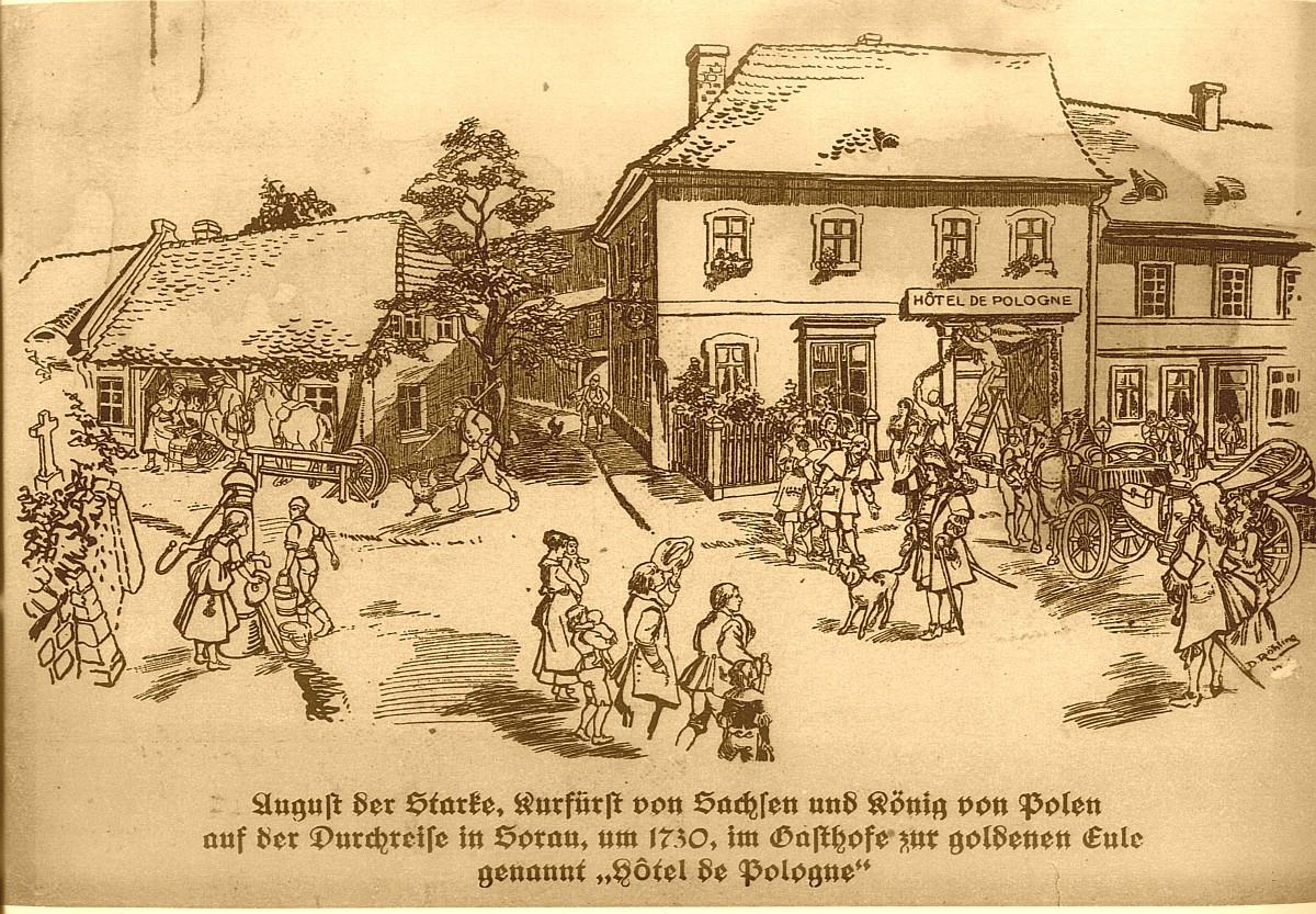 Ilustracja do informacji: 300 lat od przyjazdu do Żar Króla Augusta II Mocnego