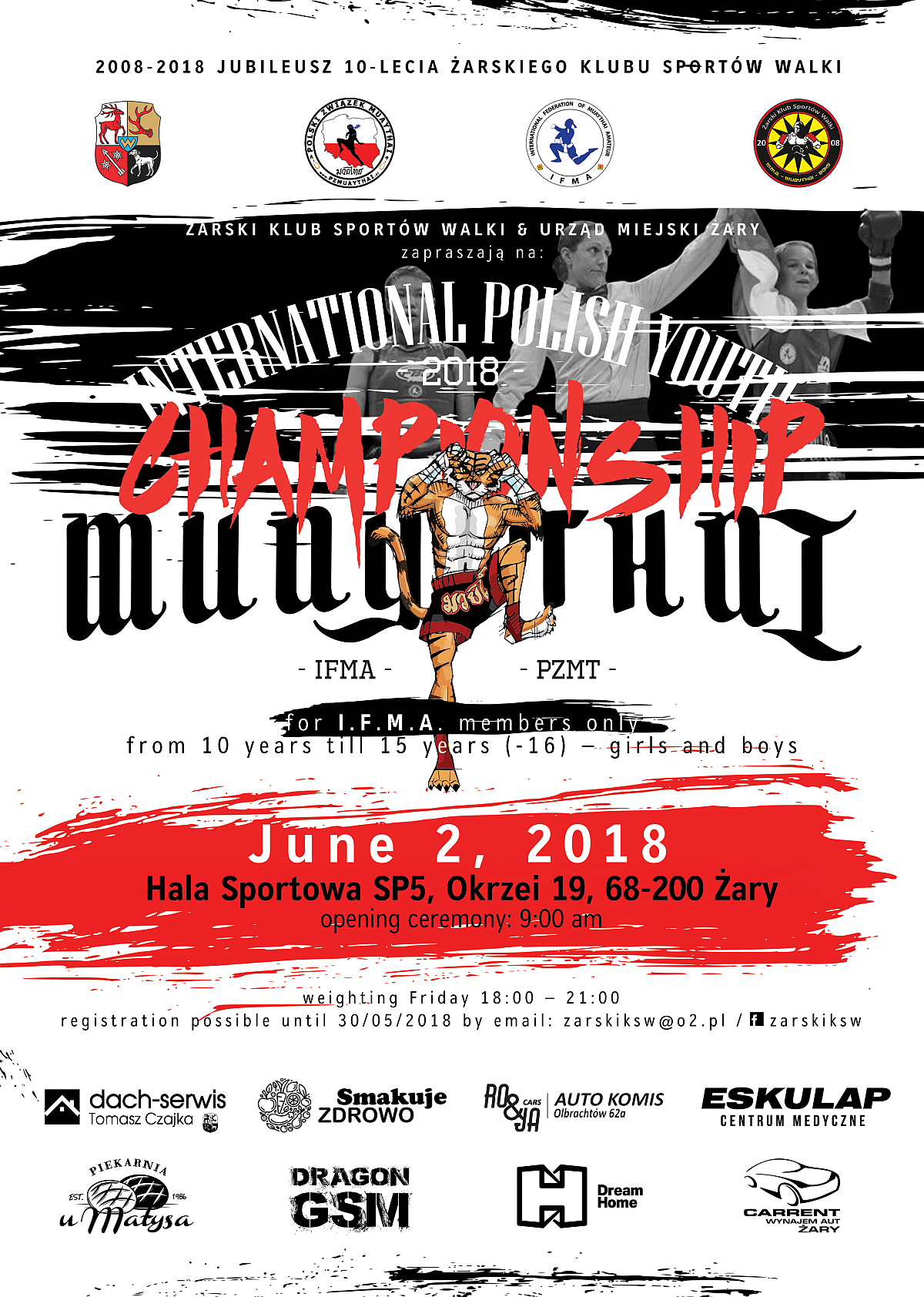 Ilustracja do informacji: Międzynarodowe Mistrzostwa Polski Muaythai