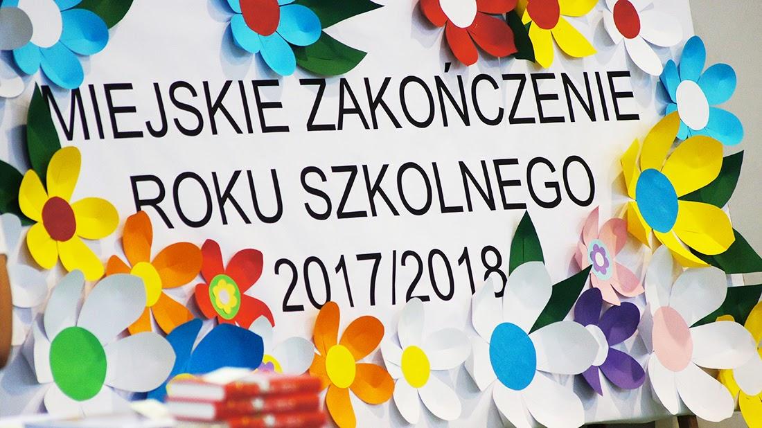 Ilustracja do informacji: Miejskie zakończenie roku szkolnego 2017/2018 w Szkole Podstawowej Nr 2 w Żarach
