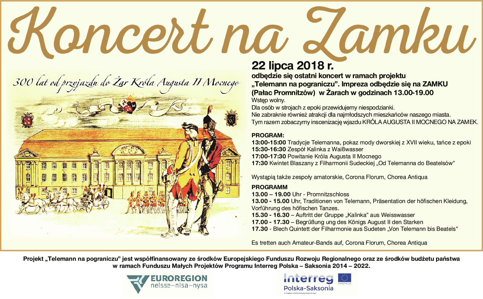 Ilustracja do informacji: Koncert na Zamku