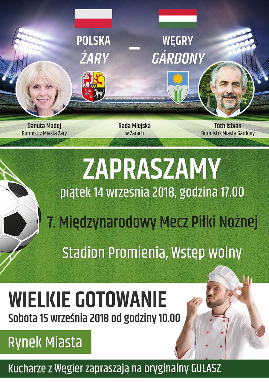 Ilustracja do informacji: Zaproszenie na mecz miast partnerskich.
