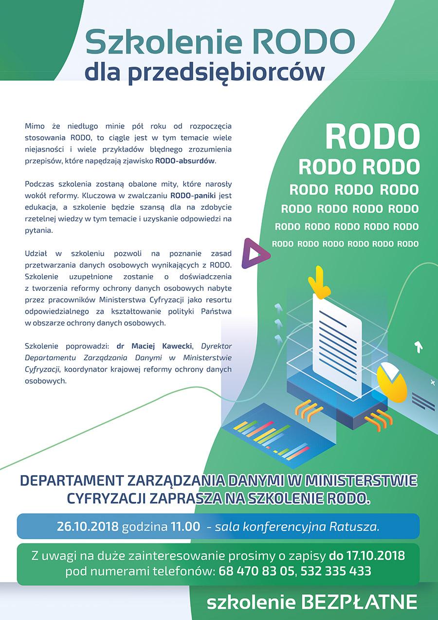 Ilustracja do informacji: Szkolenie RODO dla przedsiębiorców