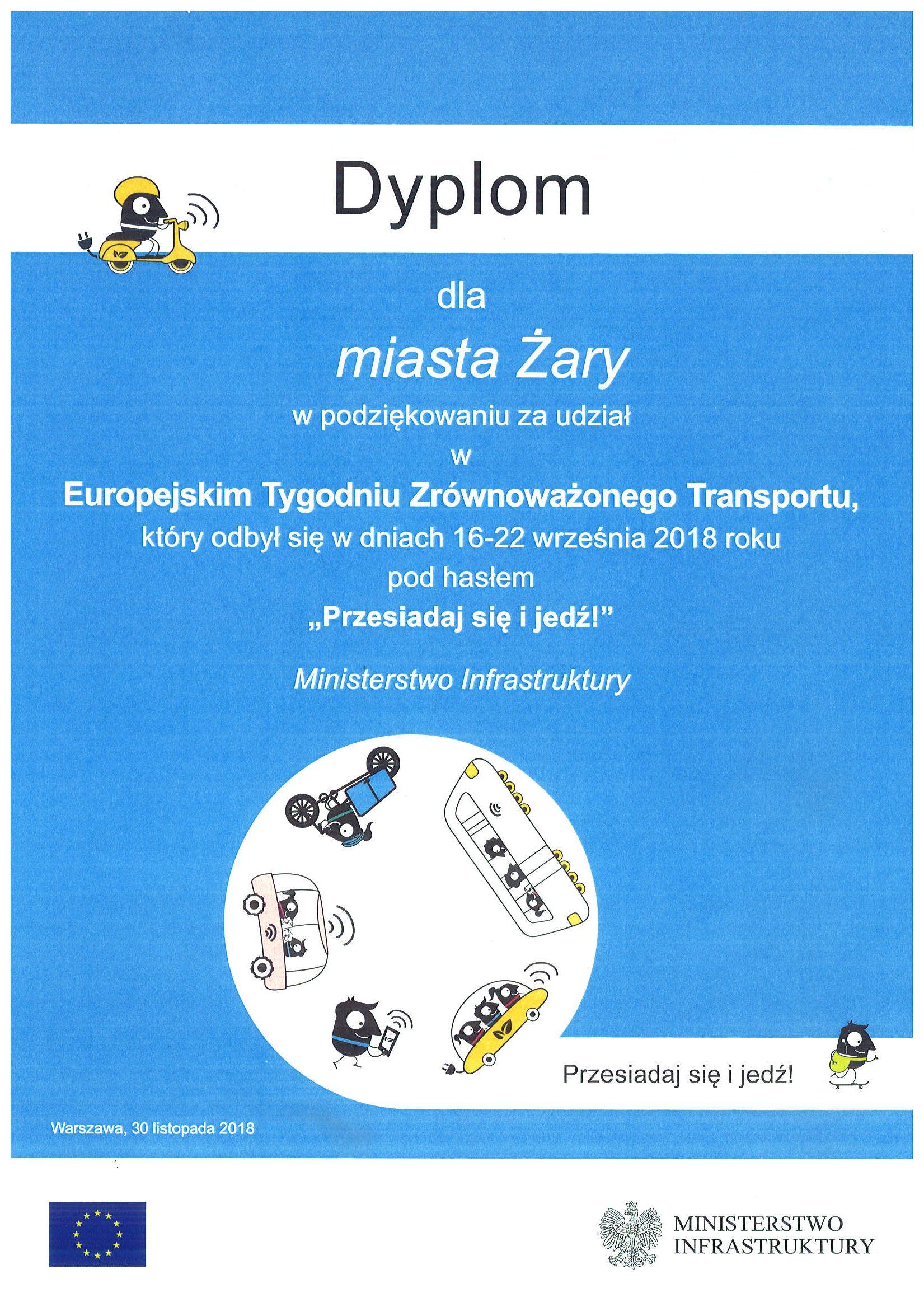 Ilustracja do informacji: EUROPEJSKI TYDZIEŃ ZRÓWNOWAŻONEGO TRANSPORTU