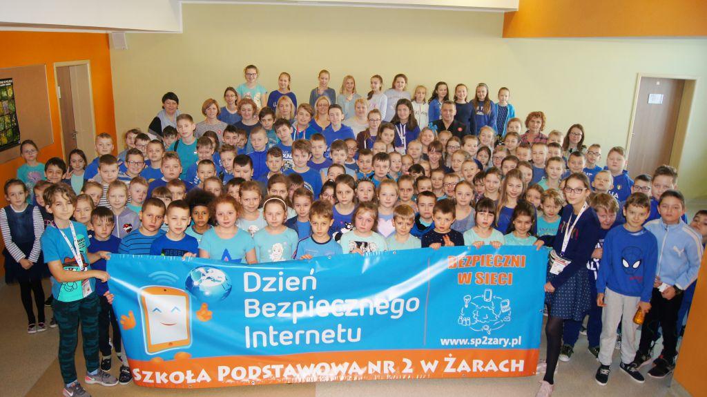 Ilustracja do informacji: Dzień Bezpiecznego Internetu w Szkole Podstawowej Nr 2 w Żarach