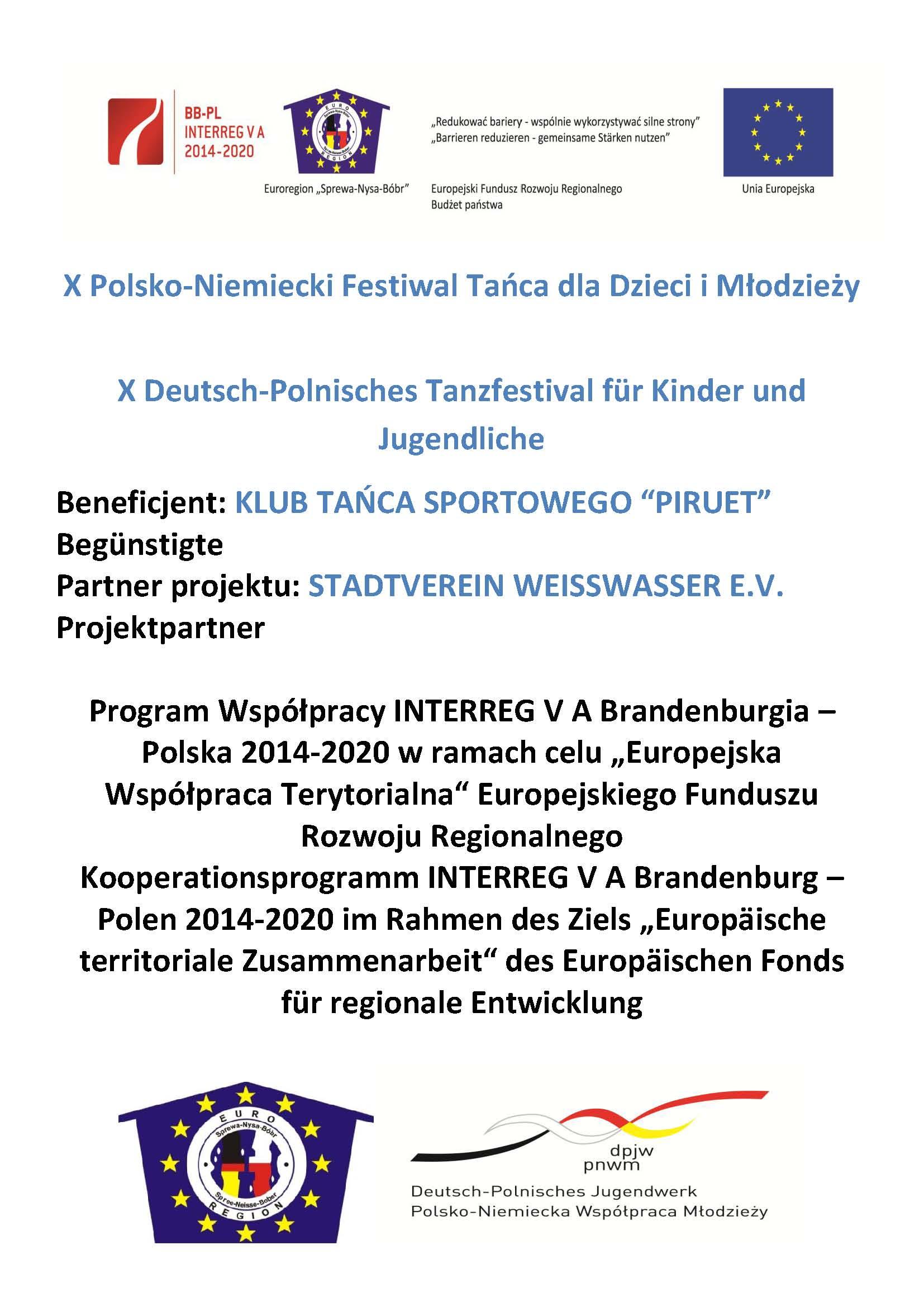 Ilustracja do informacji: X Polsko-Niemiecki Festiwal Tańca dla Dzieci i Młodzieży
