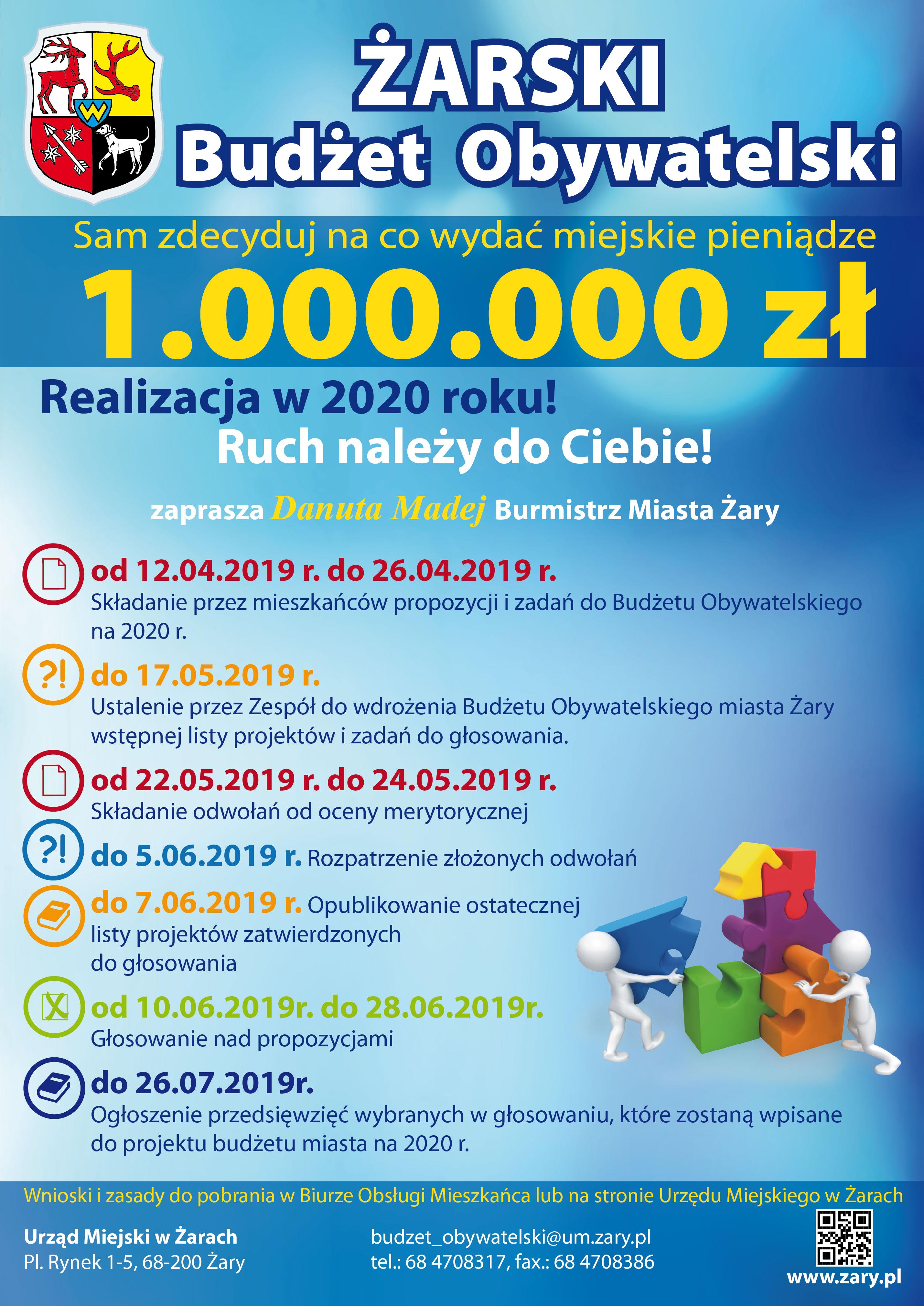 Ilustracja do informacji: Żarski Budżet Obywatelski 2020