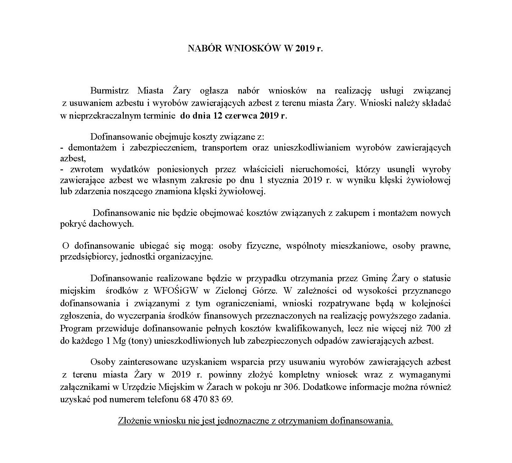 Ilustracja do informacji: AZBEST - NABÓR WNIOSKÓW W 2019 R.