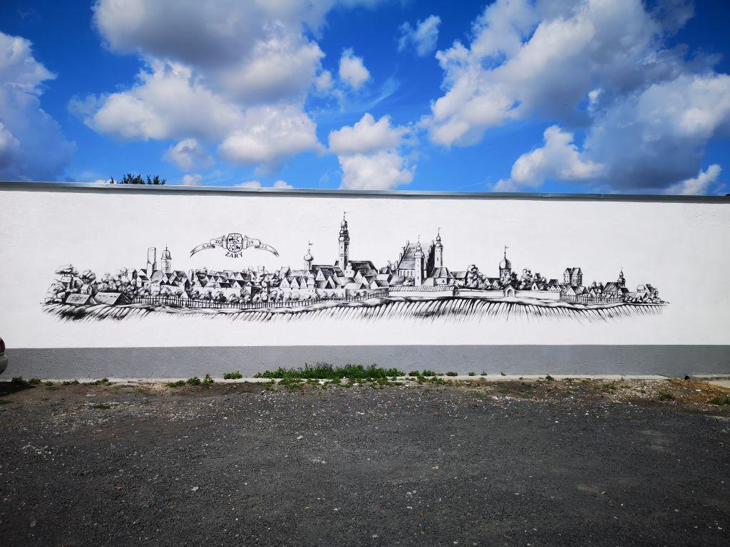 Ilustracja do informacji: Żarski mural
