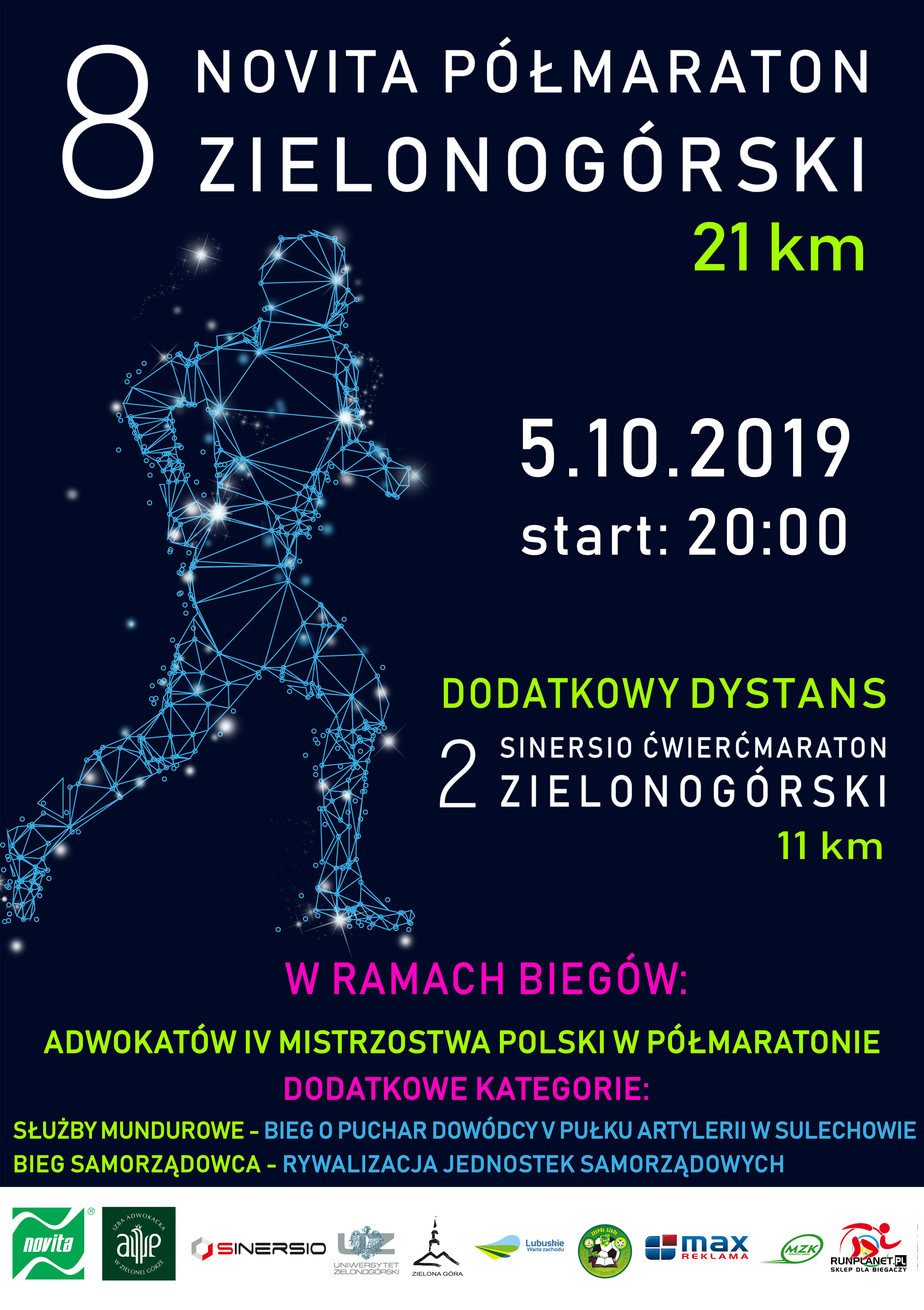 Ilustracja do informacji: Półmaraton zielonogórski