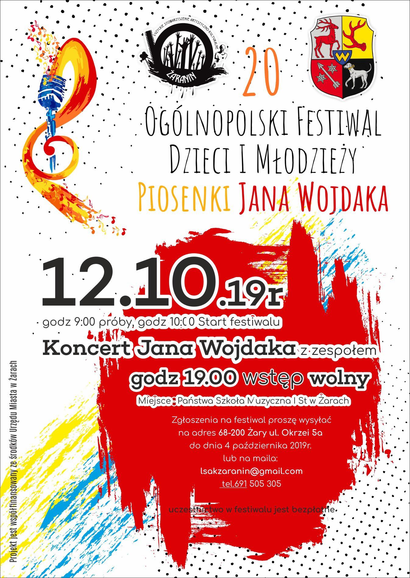 Ilustracja do informacji: Ogólnopolski Festiwal Dzieci i Młodzieży Piosenki Jana Wojdaka