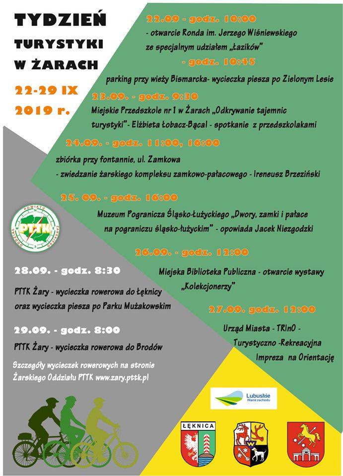 Ilustracja do informacji: Tydzień Turystyki w Żarach