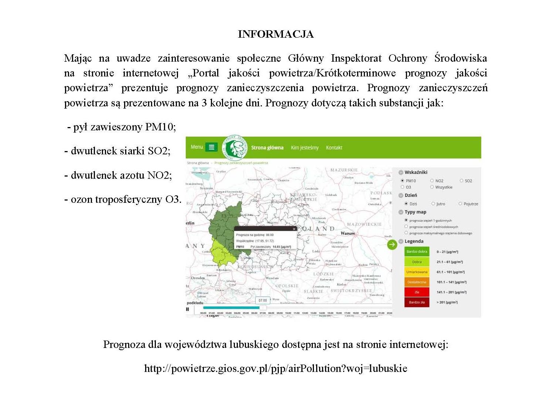 Ilustracja do informacji: Krótkoterminowe prognozy zanieczyszczenia powietrza