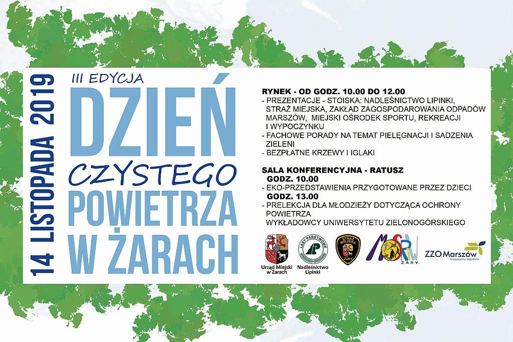 Ilustracja do informacji: III edycja Dzień Czystego Powietrza w Żarach