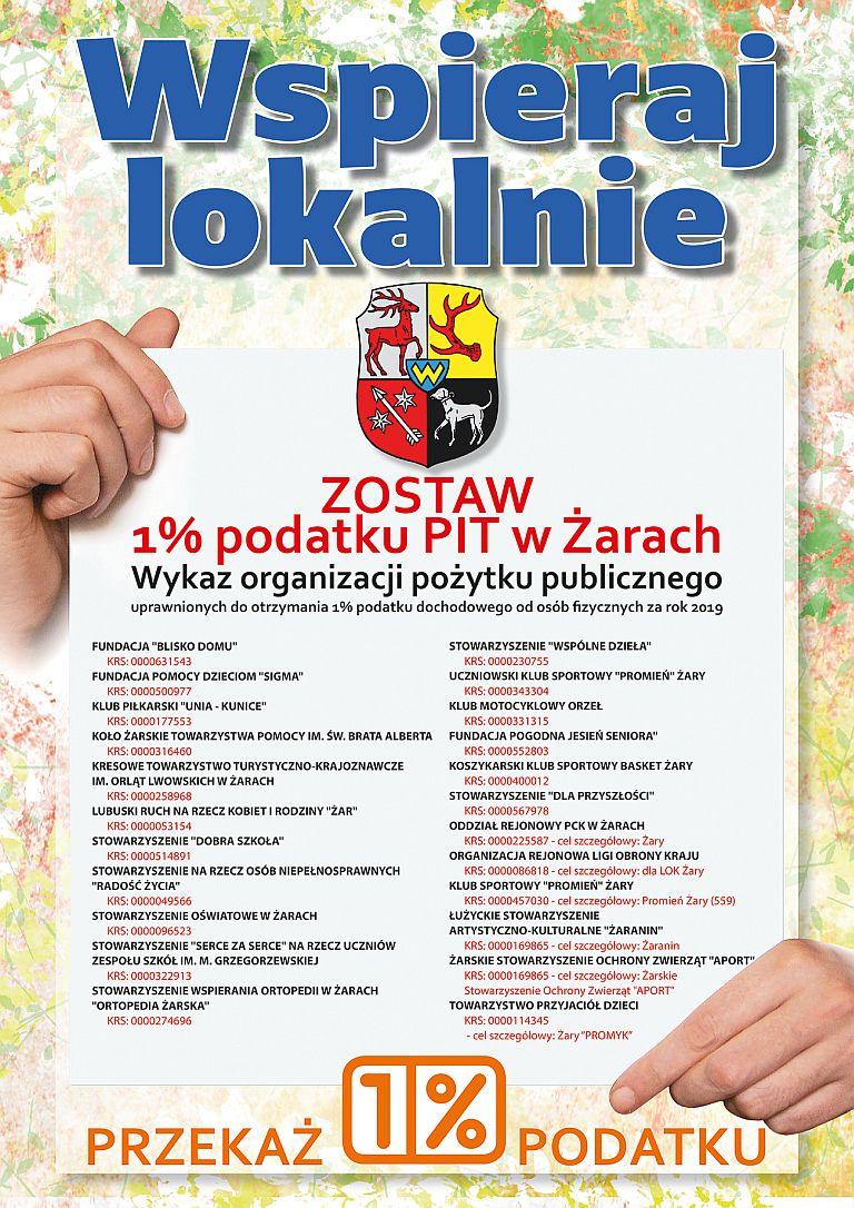 Ilustracja do informacji: Zostaw 1% podatku PIT w Żarach