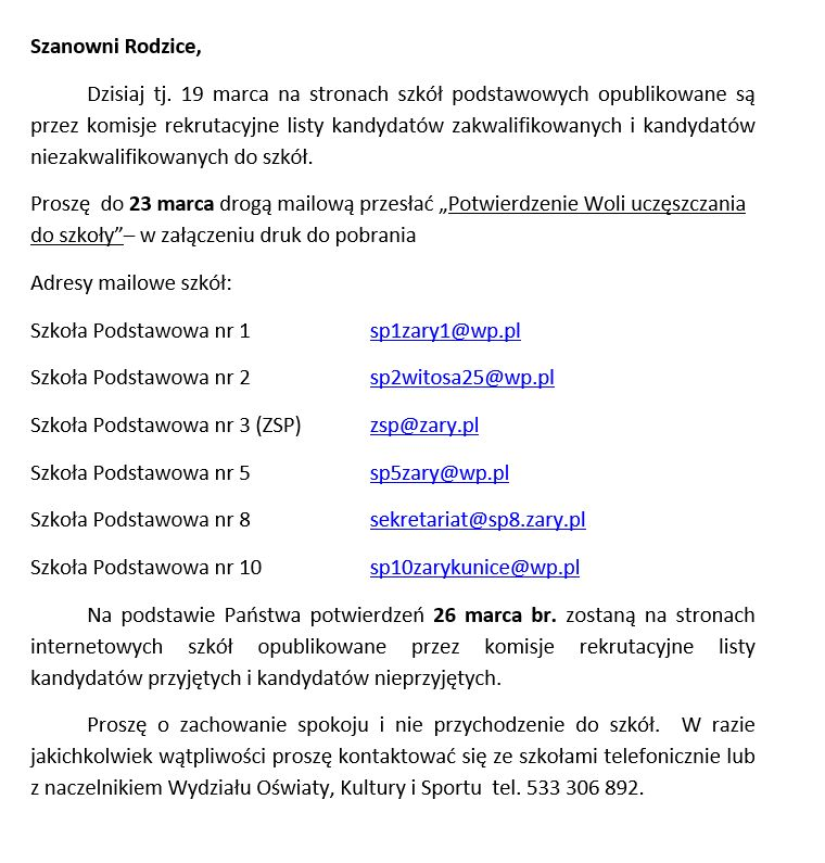 Ilustracja do informacji: Rekrutacja do szkół