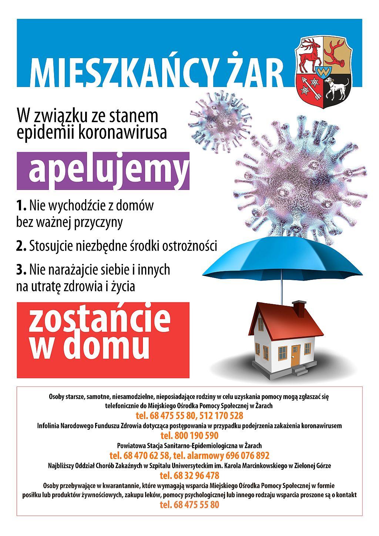 Ilustracja do informacji: Zostań w domu