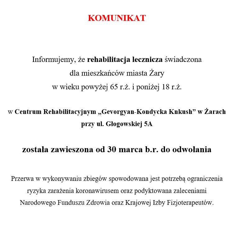 Ilustracja do informacji: Komunikat w sprawie programu rehabilitacji