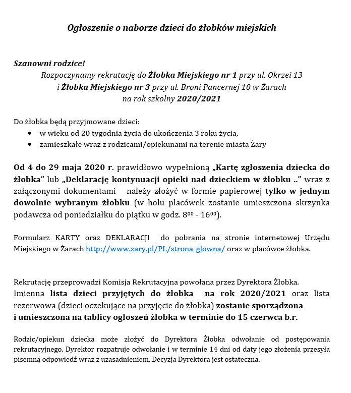 Ilustracja do informacji: Ogłoszenie o naborze do żłobków miejskich