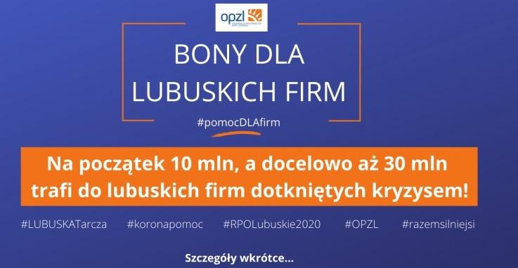 Ilustracja do informacji: Bony wsparcia dla lubuskich firm