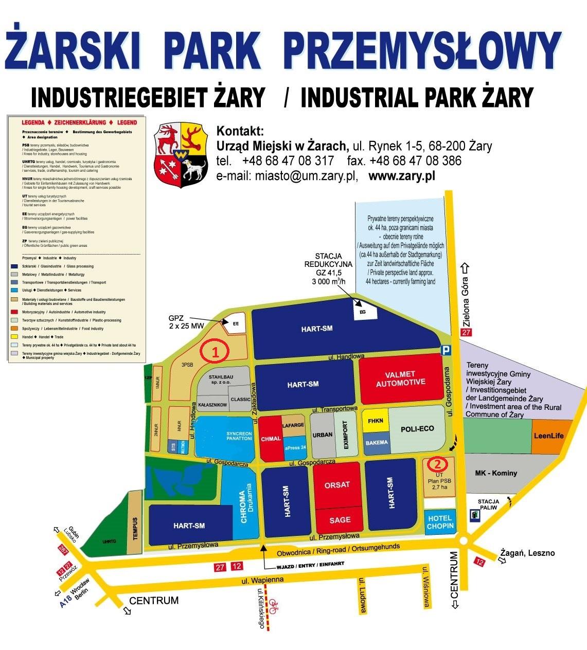 Ilustracja do informacji: Charakterystyka gospodarcza miasta Żary