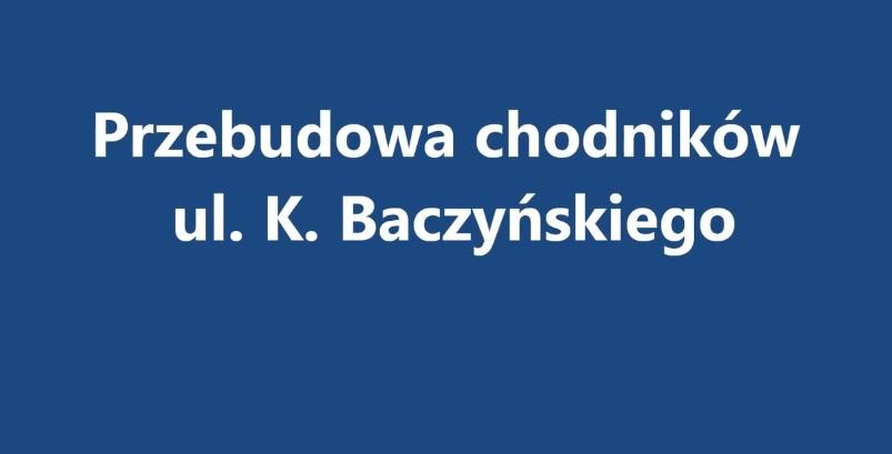 Ilustracja do informacji: ul. Baczyńskiego