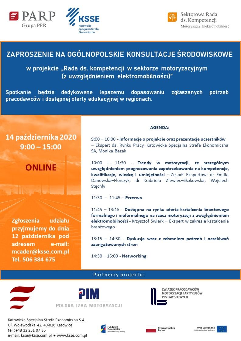 Ilustracja do informacji: Zaproszenie na Ogólnopolskie Konsultacje Środowiskowe MOTORYZACJA I ELEKTROMOBILNOŚĆ