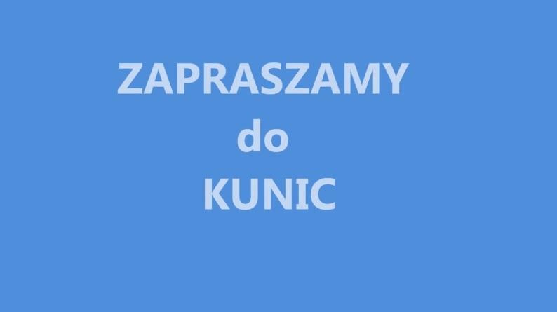 Ilustracja do informacji: Zapraszamy do Kunic! Spędź tu wolny czas!