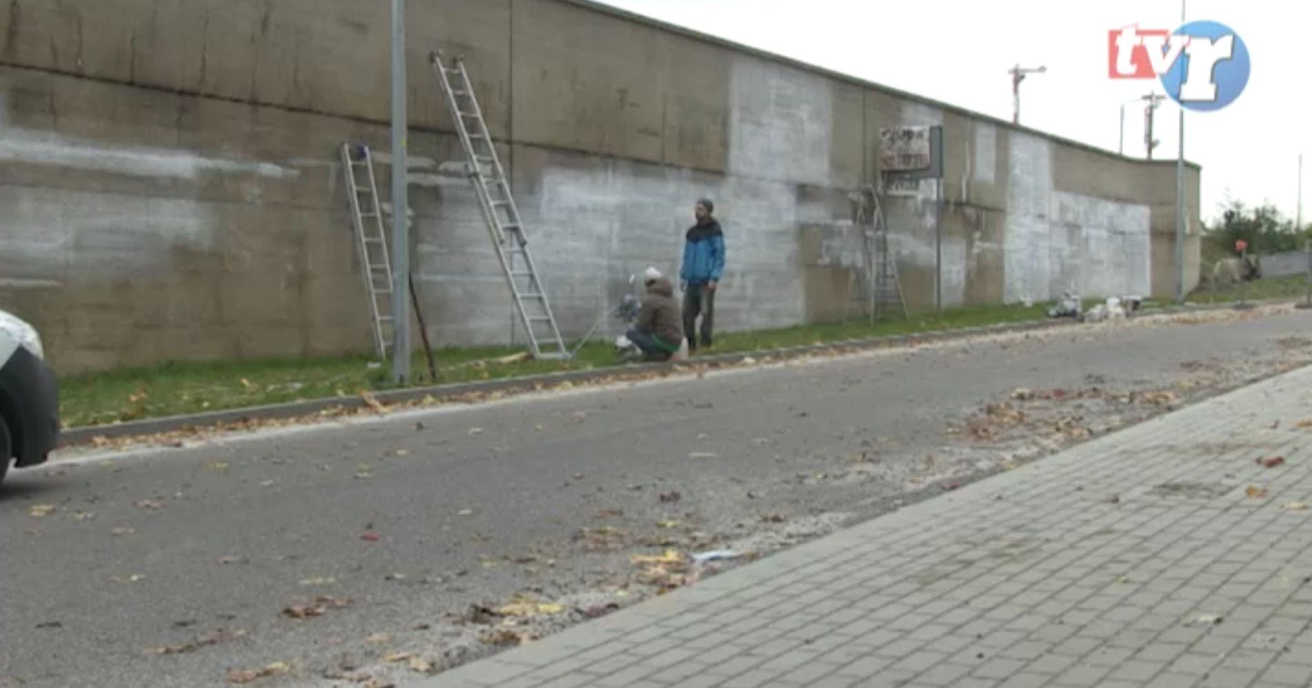 Ilustracja do informacji: Mural przy Kujawskiej