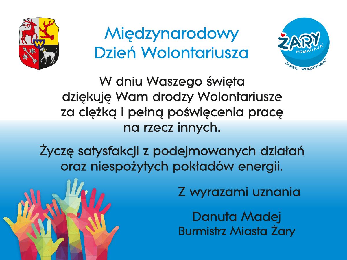 Ilustracja do informacji: Dzień Wolontariusza