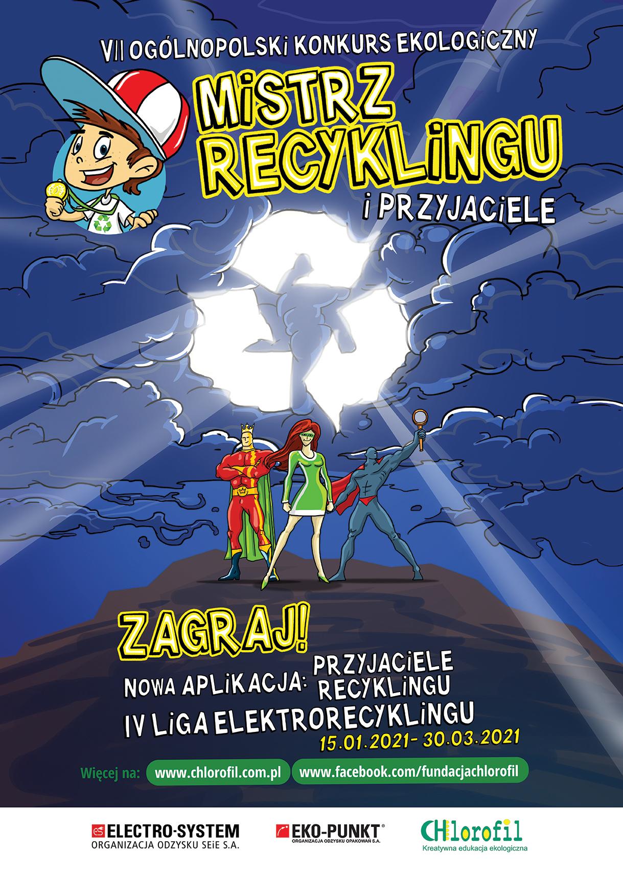 Ilustracja do informacji: VII Ogólnopolski Konkurs Edukacji Ekologicznej dla dzieci - Mistrz Recyklingu i Przyjaciele 2021