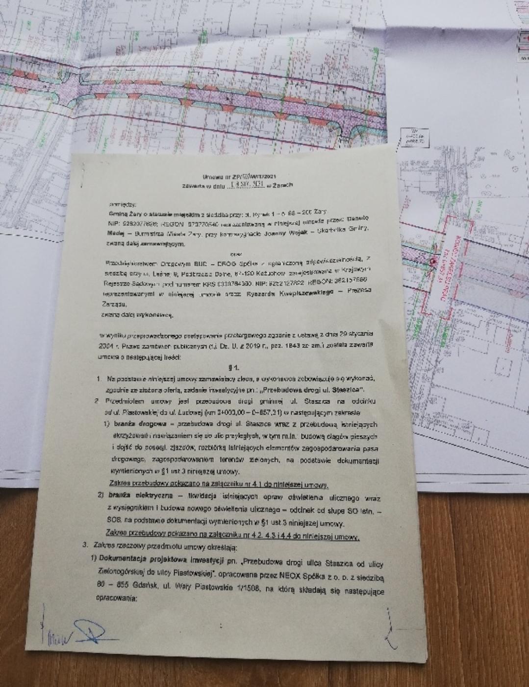 Ilustracja do informacji: Umowa na ul. Staszica podpisana