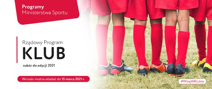 Ilustracja do informacji: Program Klub - edycja 2021