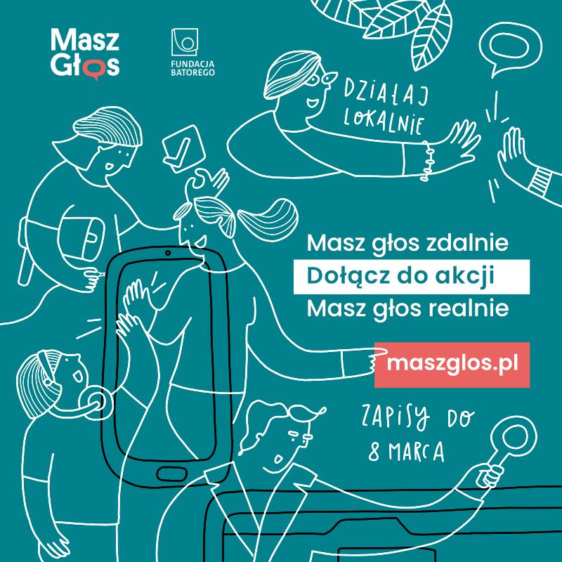 Ilustracja do informacji: Akcja Masz Głos dla lokalnych społeczności