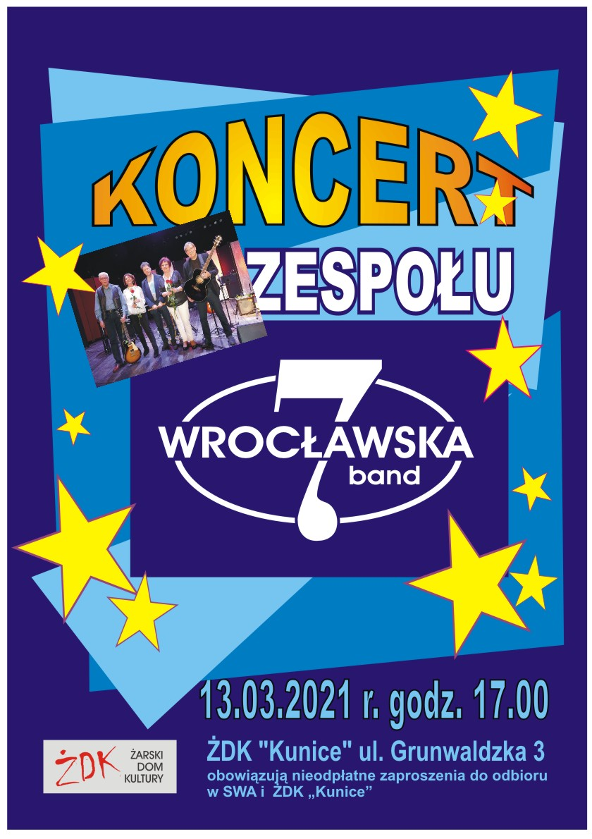 """Ilustracja do informacji: Koncert zespołu """"Wrocławska 7 """""""