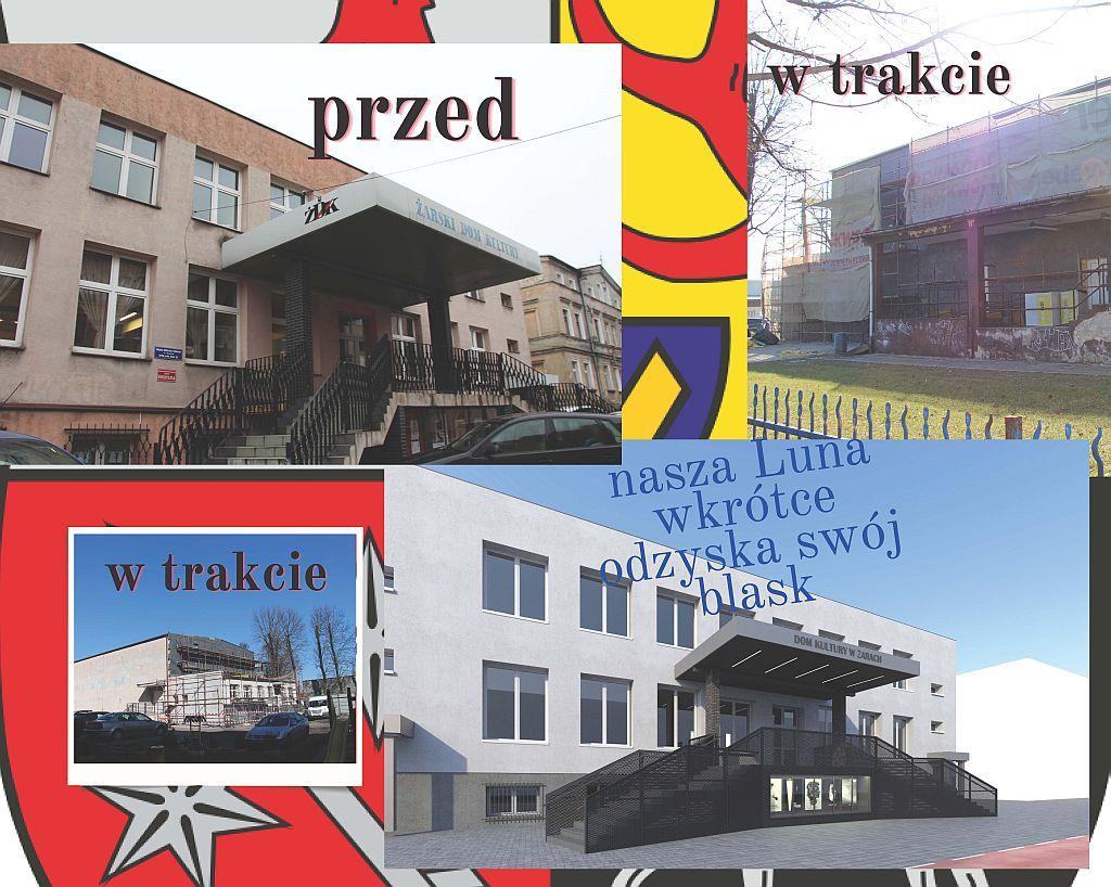 Ilustracja do informacji: Trwa termomodernizacja obiektu sali widowiskowej LUNA ŻDK