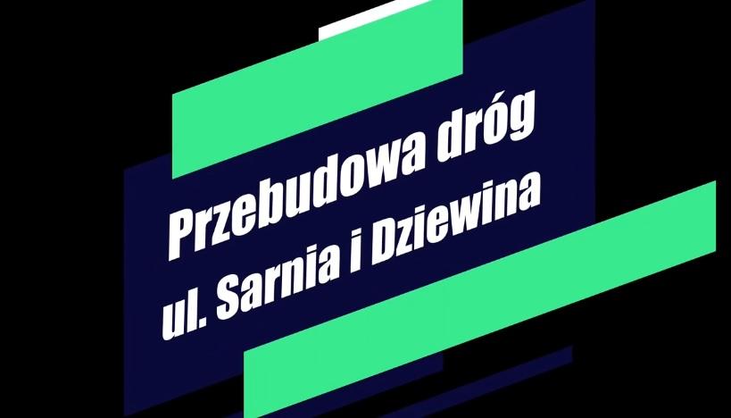 Ilustracja do informacji: Przebudowa dróg w ulicach Sarnia i Dziewina w Żarach
