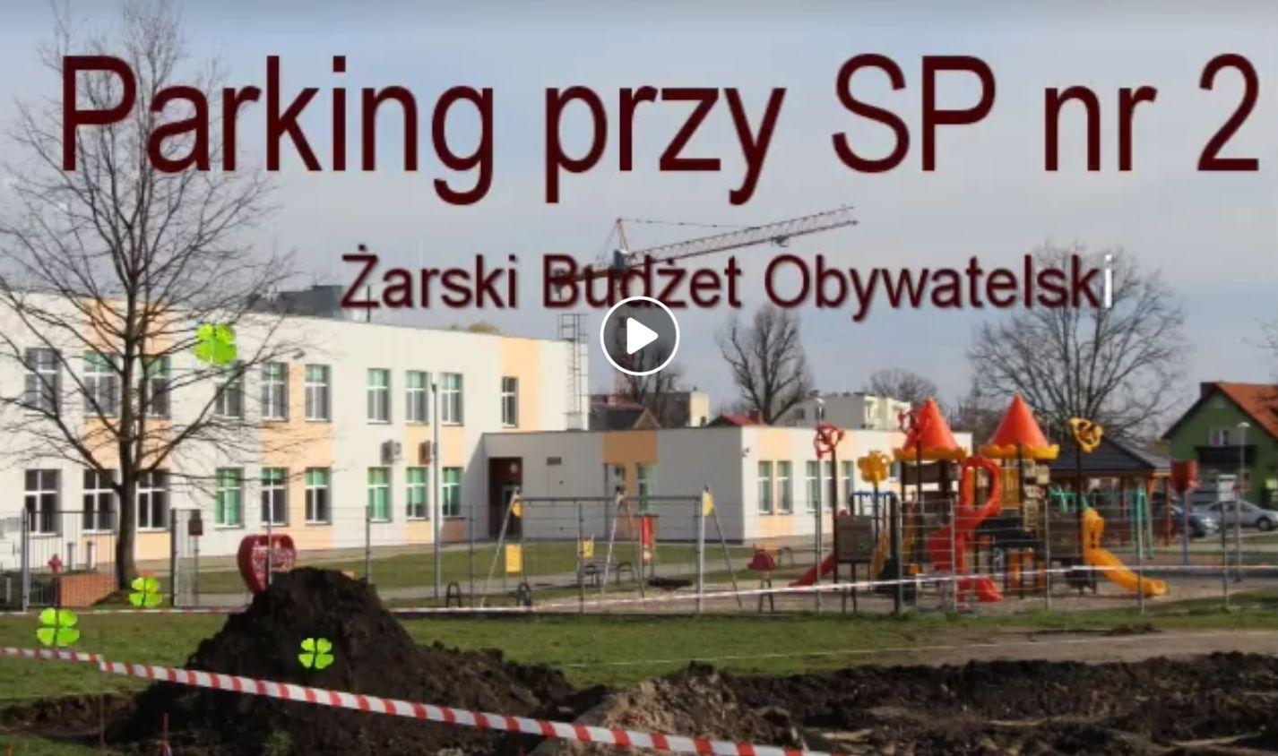 Ilustracja do informacji: Parking przy SP nr 2 . Żarski Budżet Obywatelski