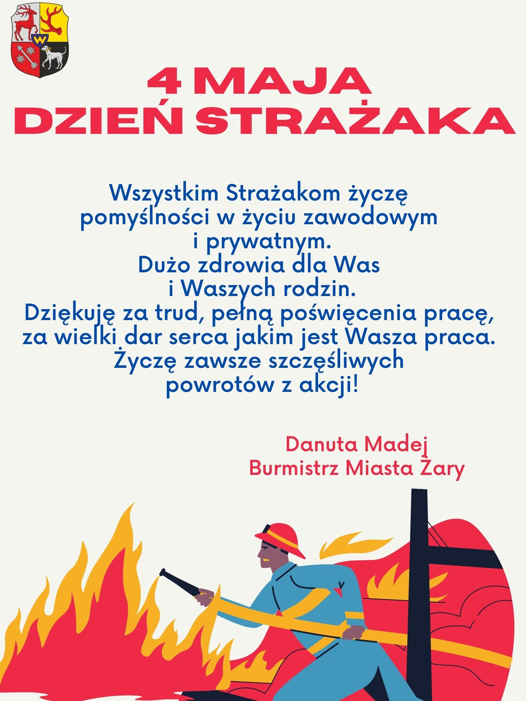 Ilustracja do informacji: 4 Maja dzień Strażaka