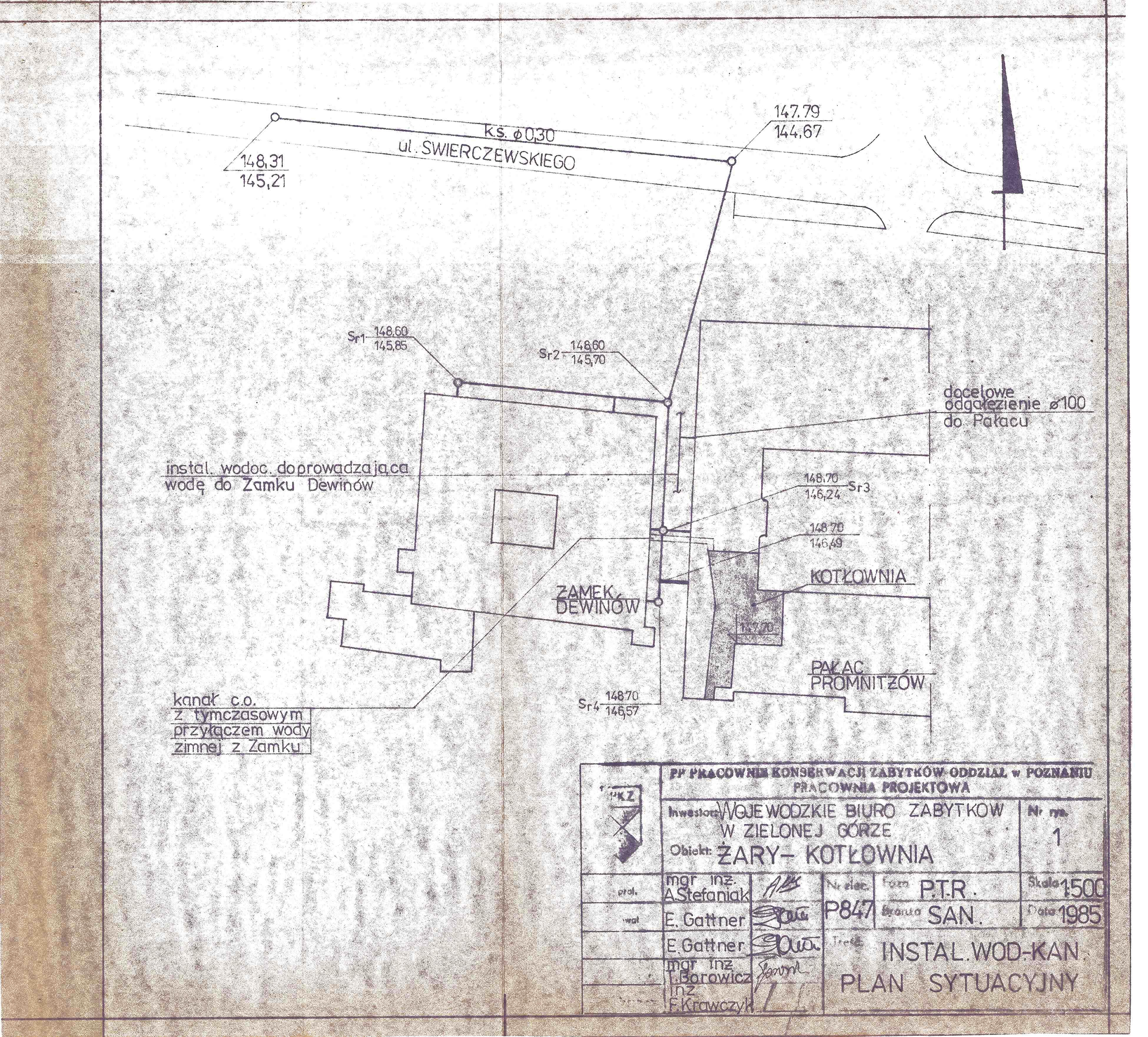 Ilustracja do informacji: Stara dokumentacja zamku i pałacu
