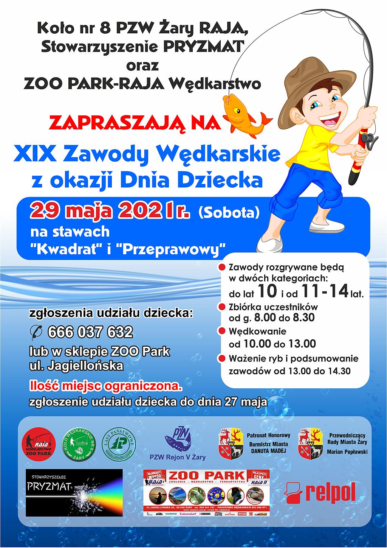 Ilustracja do informacji: XIX Zawody Wędkarskie z okazji Dnia Dziecka