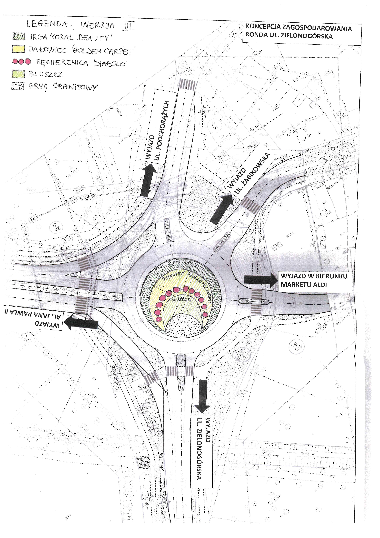 Ilustracja do informacji: Rondo ul. Zielonogórska