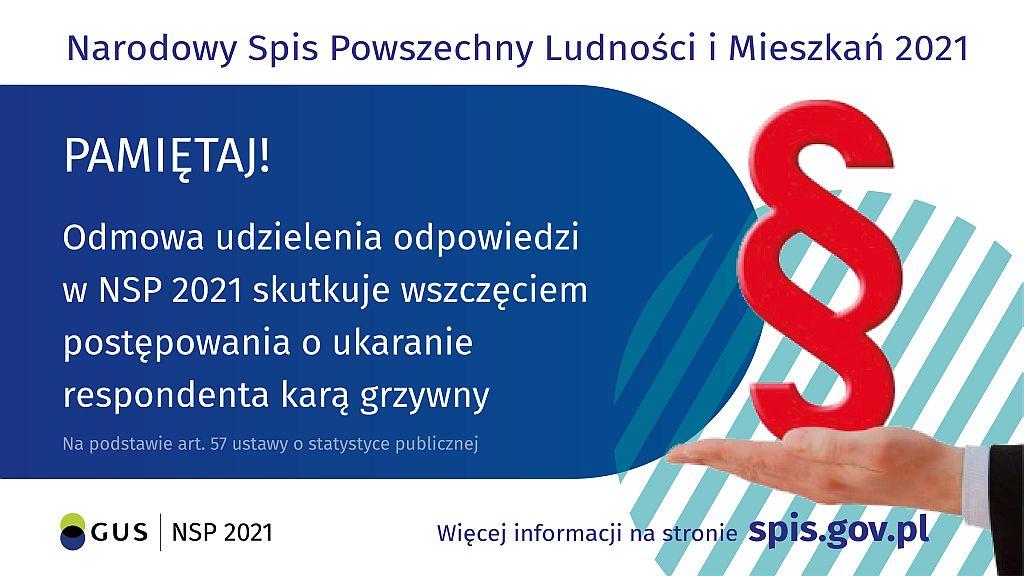 Ilustracja do informacji: NSP 2021