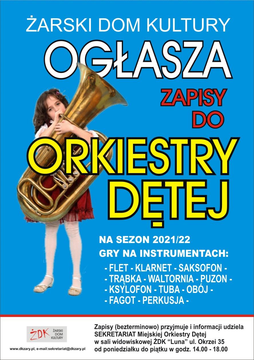 Ilustracja do informacji: Zapisy do Miejskiej Orkiestry Dętej Żarskiego Domu Kultury na sezon 2021/22