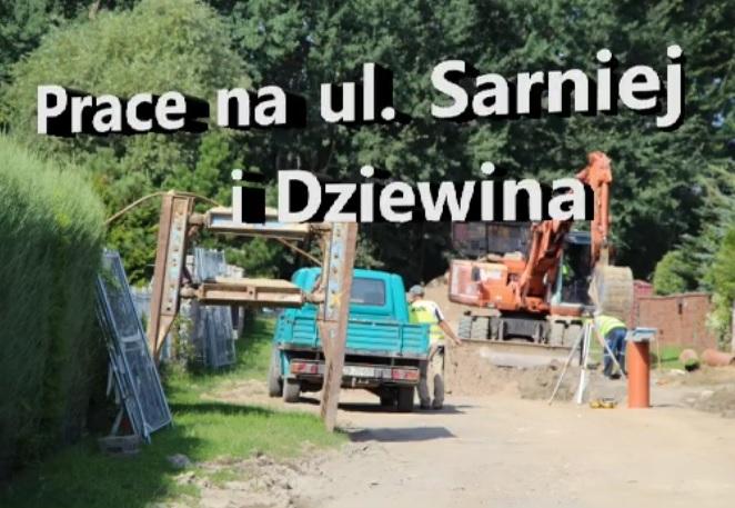 Ilustracja do informacji: Ulica Sarnia i Dziewina w Żarach