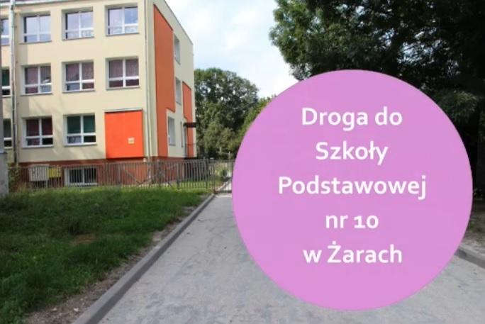 Ilustracja do informacji: Droga do szkoły podstawowej nr 10 w Żarach