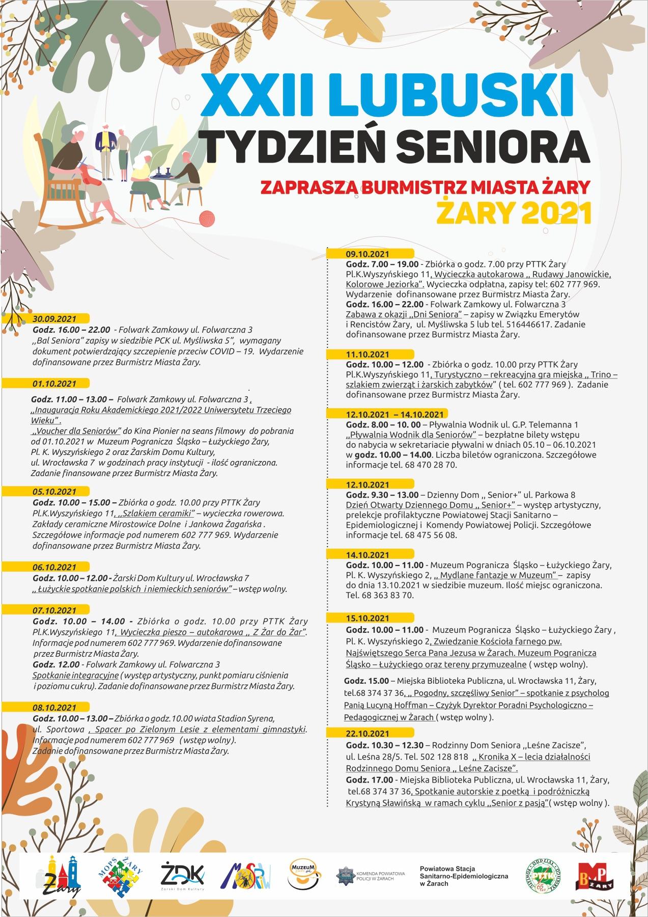 Ilustracja do informacji: Tydzień Seniora
