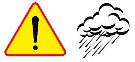 Ilustracja do informacji: Ostrzeżenie meteorologiczne !